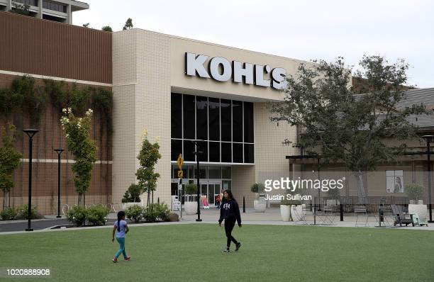 People stand in front of a Kohl's store on August 21 2018 in San Rafael California Kohl's reported better than expected second quarter earnings with...
