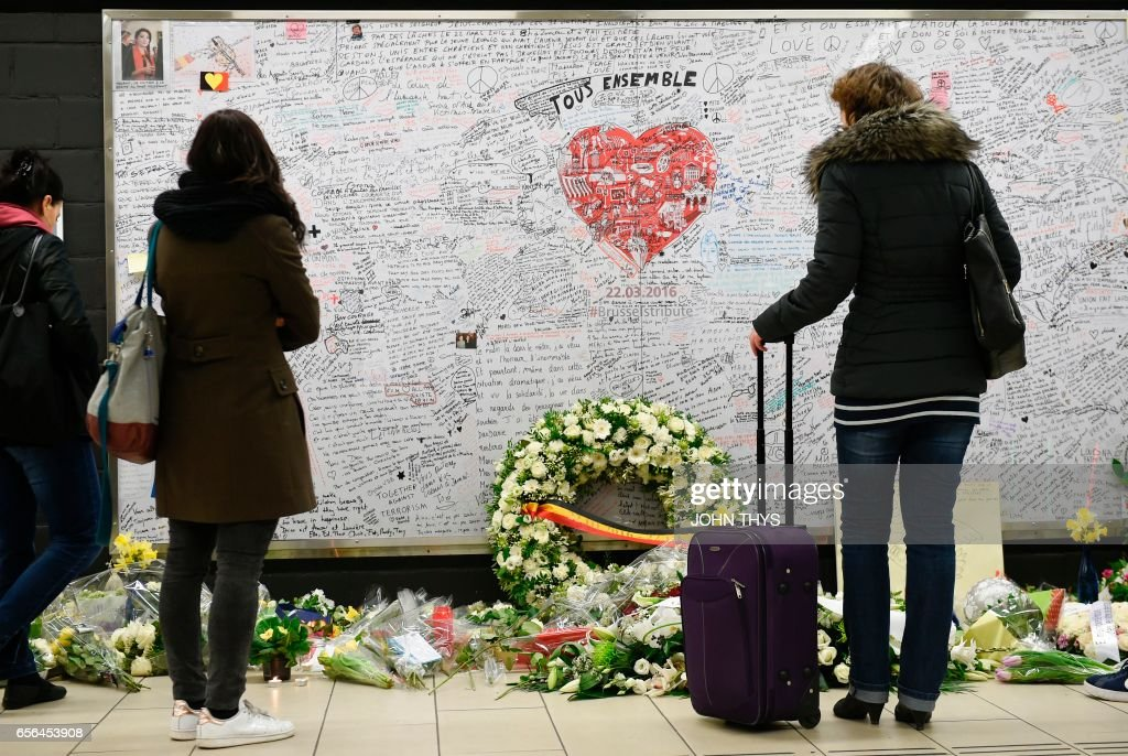 BELGIUM-ATTACKS-ANNIVERSARY : News Photo