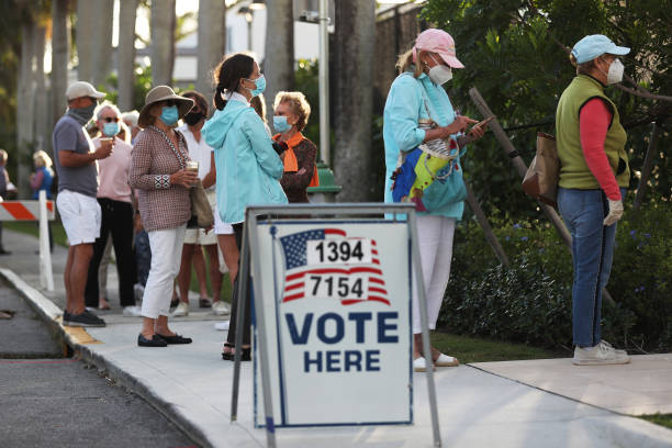 USA: Across The U.S. Voters Flock To The Polls On Election Day