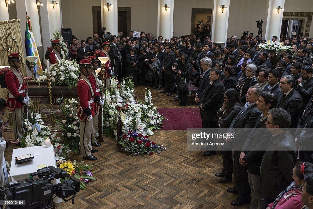 Ceremony for murdered Deputy Interior Minister Rodolfo Illanes in Bolivia : News Photo