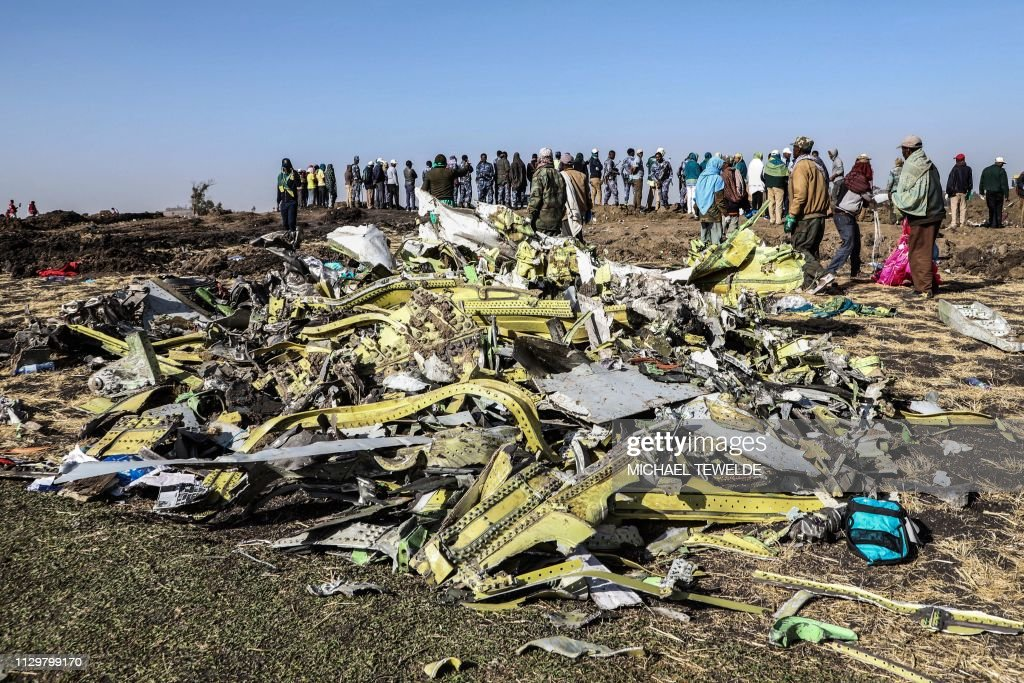 TOPSHOT-KENYA-ETHIOPIA-ACCIDENT-AIRPLANE : News Photo