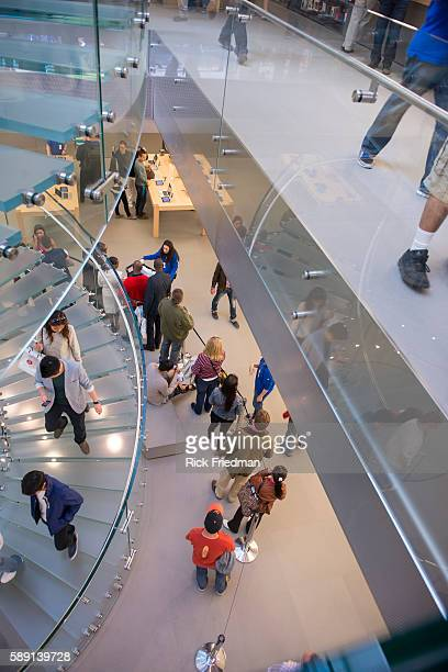 People standing in line to purchase the iPhone 5 at the Apple Store Boston MA on September 21 2012