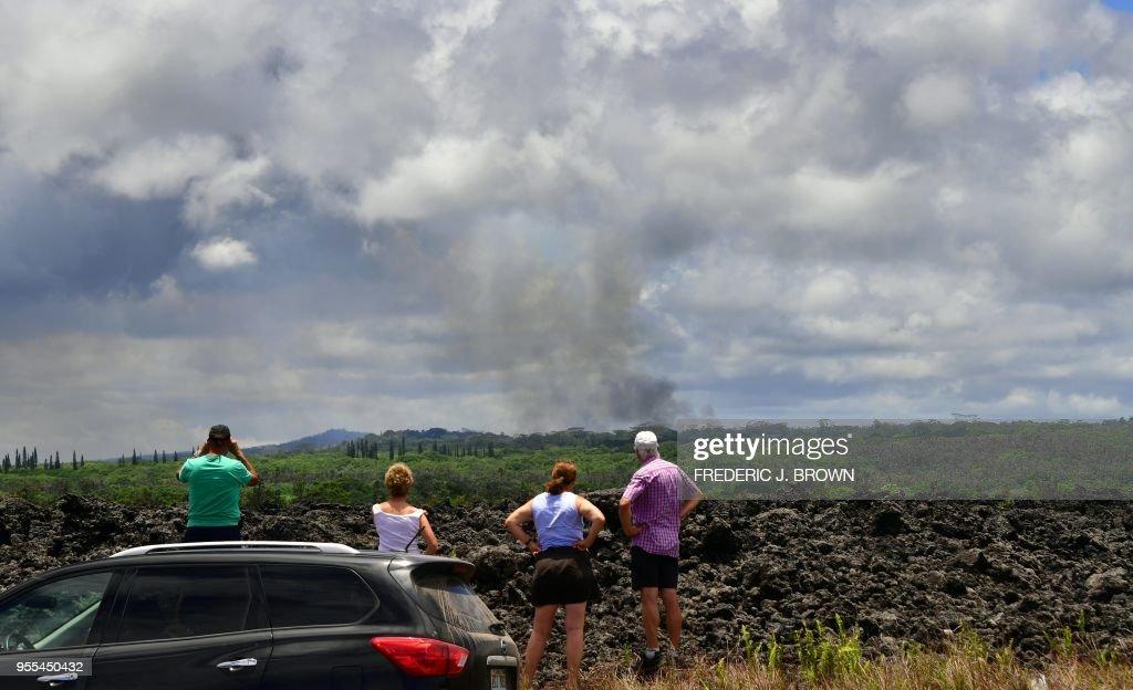 TOPSHOT-US-VOLCANO-HAWAII : News Photo