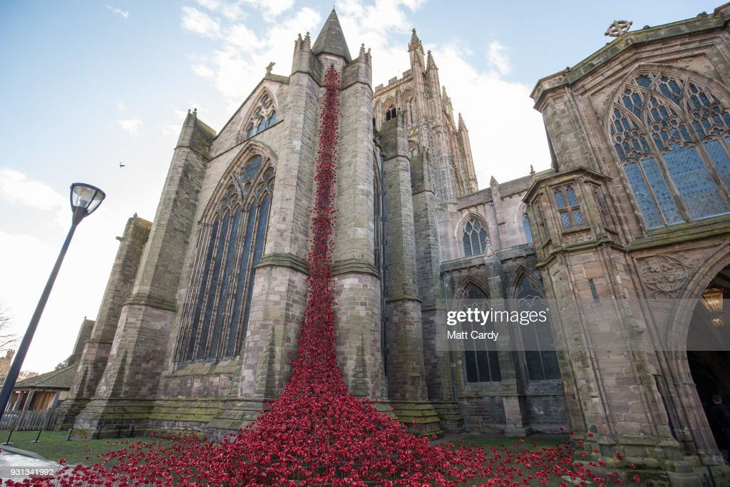 The Poppies open at Hereford Cathedral 2018 : News Photo