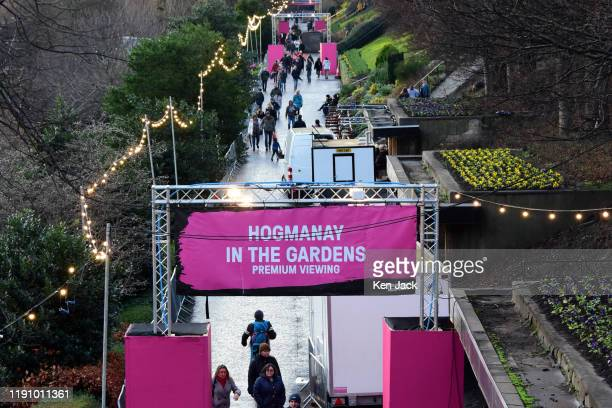 People stroll in one of the main walkways in Princes Street Gardens, the day before a Hogmanay street party which is expected to attract 70,000...