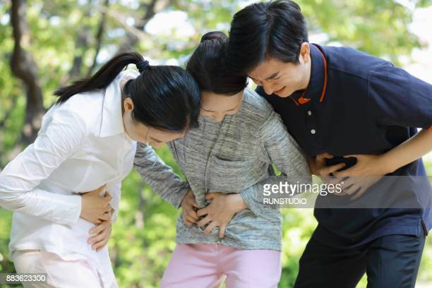 People suffering from stomachache