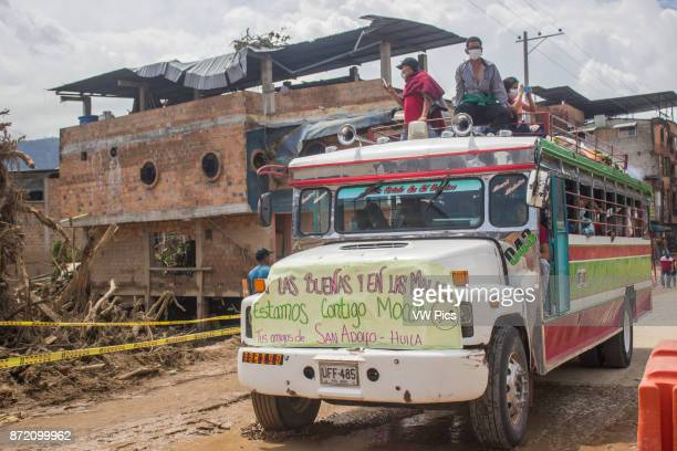 People supporting affected people after the avalanche last April 1 that affected 17 neighborhoods in Mocoa Colombia April 4 2017