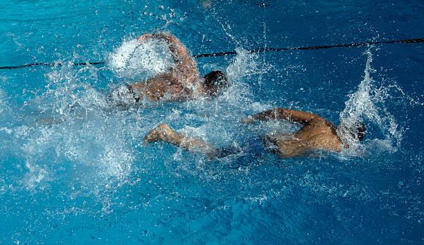 People Swim In A Public Swimming Pool On July 23 2013 Berlins Neukoelln District