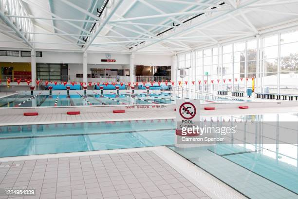 People swim in the outdoor pools whilst indoor pools remain closed at Boy Charlton Pool in North Manly on May 15, 2020 in Sydney, Australia....