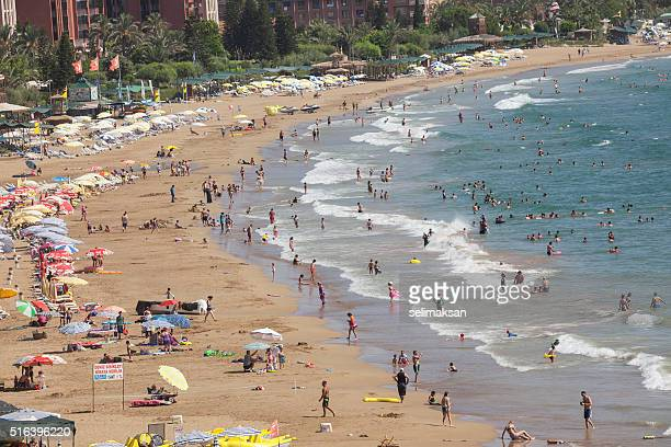 People Swimming  In Incekum Beach Near Alanya,Antalya