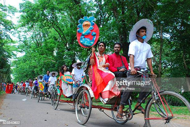 People take out a colorful procession to celebrate Bengali New Year 1423 at Shahjalal University of Science and Technology Thousands of people...