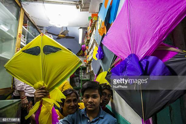 People take part at Shakrain festival in Dhaka on January 14 2016Shakrain is known as the kite festival in Bangladesh Especially southern part of the...