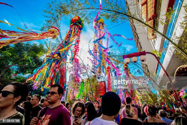 People take part at Tanabata Festival on 16 July 2017 in Sao Paulo Brazil The Tanabata Matsuri or Star Festival is a festival that usually takes...