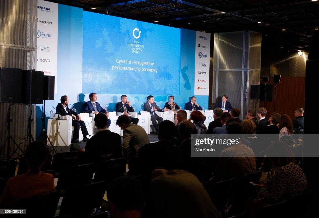 "People take part at the ""Kyiv International Economic Forum"" in Kiev, Ukraine,06 October , 2017."
