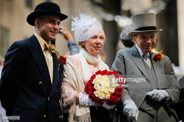 People take part during the annual easter parade in Manhattan New York This annual tradition has been taking place in New York City for over 100 years