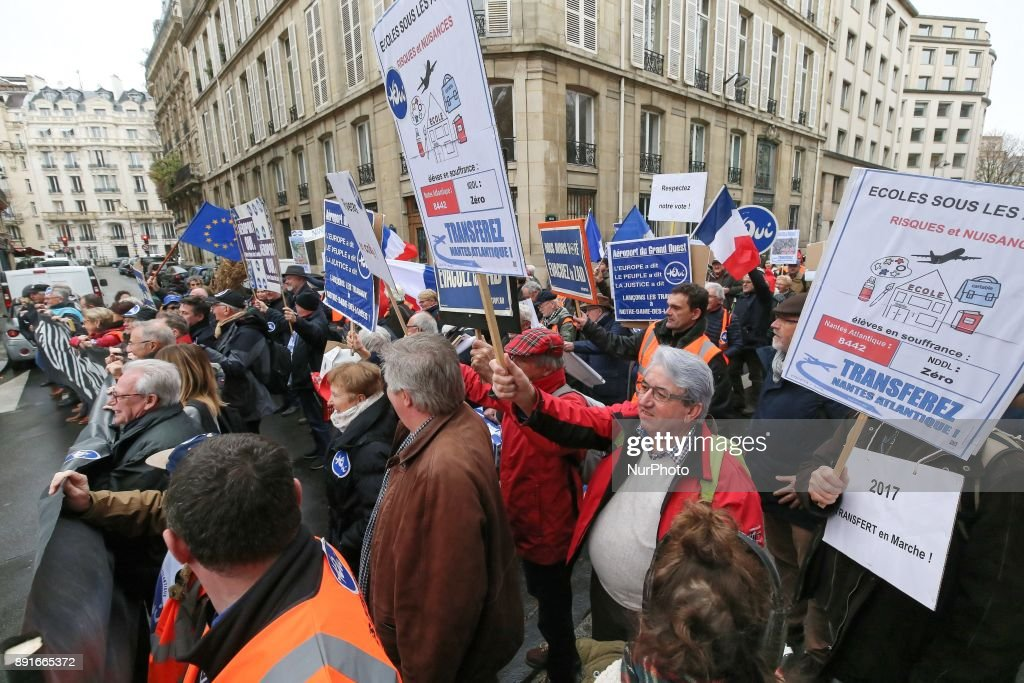 Demonstration in Paris in support of Notre-Dame-des-Landes airport project