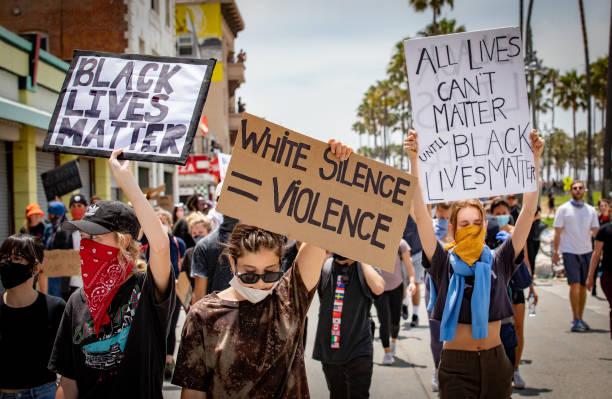 CA: George Floyd Protest In Venice Beach