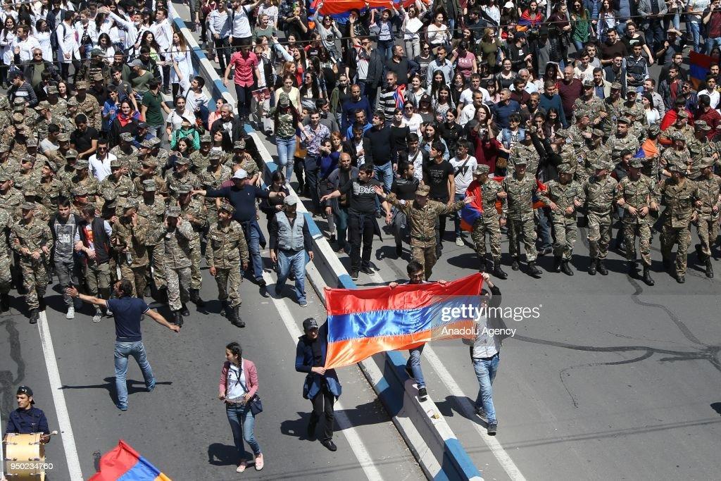 Protest in Armenia's Yerevan : News Photo