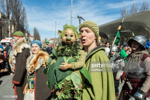 People take part in a paradefor Saint Patrick's Day in Munich Germany on March 17 2019