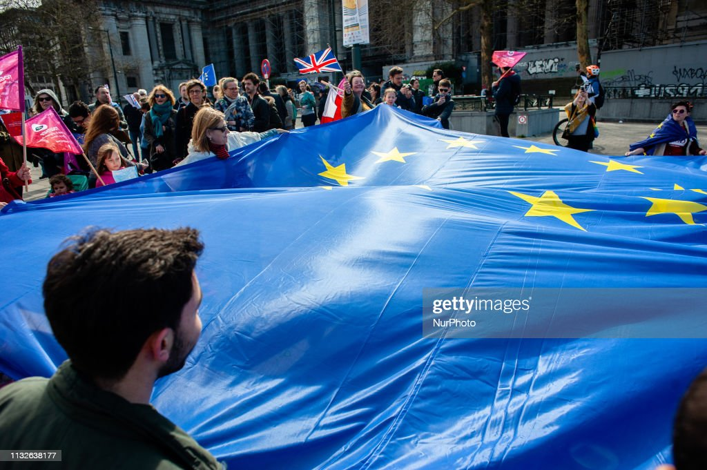 BEL: March For Europe Celebrated In Brussels