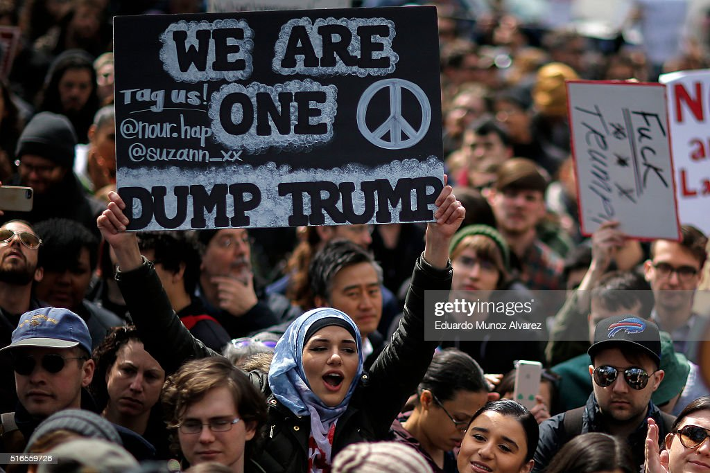 Anti-Trump Rally Held In New York City : News Photo