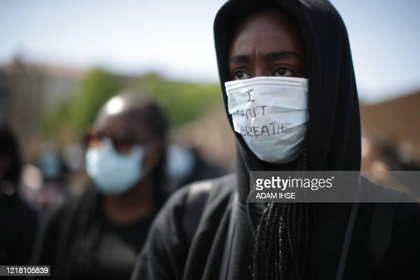 People take part in a protest on June 7 2020 in Gothenburg Sweden in solidarity with protests raging across the US over the death of George Floyd an...