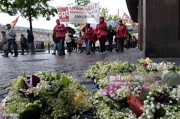 People take part in a rally as part of the annual May Day workers' events on May 1 2015 in Strasbourg eastern France In many countries around the...