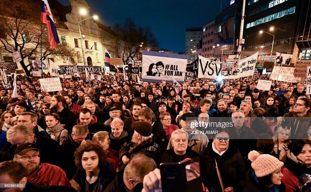 SLOVAKIA-POLITICS-PROTEST : News Photo