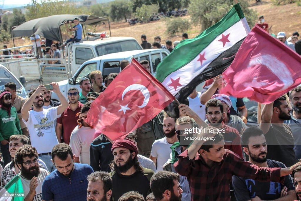 Rally in support of Turkey in Idlib : Nieuwsfoto's
