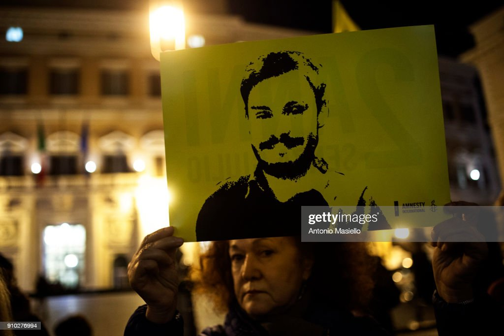 Torchlight Procession To Mark The Second Anniversary of Giulio Regeni Disappearance : News Photo
