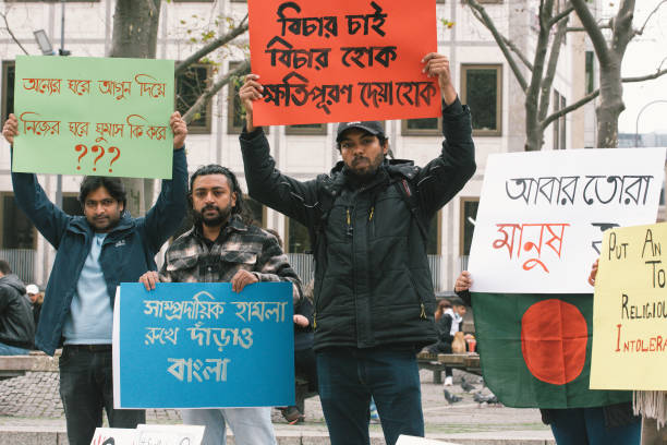 DEU: Protest Over Bangladesh Attack Against Hindus In Cologne