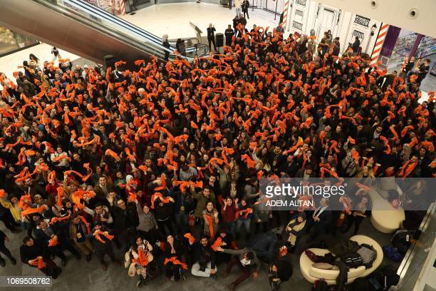 People take part in the 16 Days of Activism Against Gender Based Violence which is an international campaign to challenge violence against women in...
