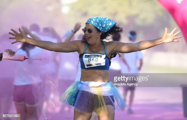 People take part in the Color Run in Rio De Janeiro Brazil on August 6 2017 Color Run is the most important and wellknown race in this segment...