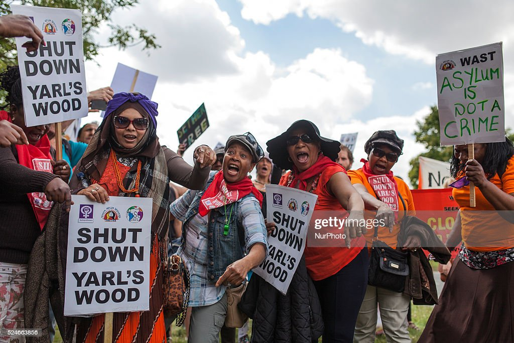 Shut down Yarl's Wood Bedford, UK : News Photo