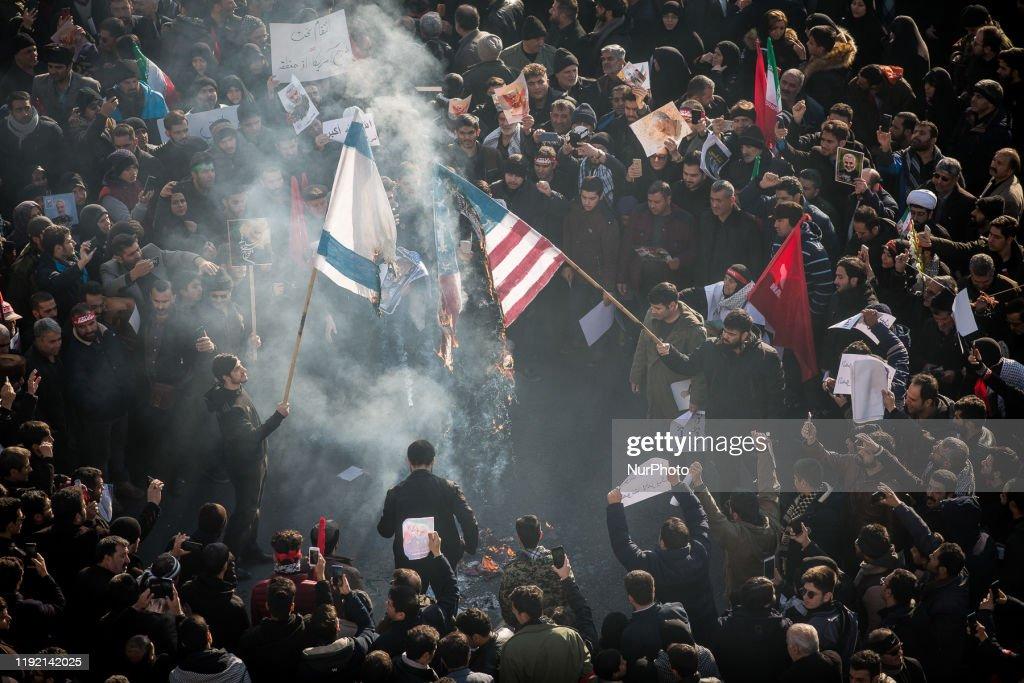 Funeral Procession For Iran's General Qasem Soleimani : News Photo