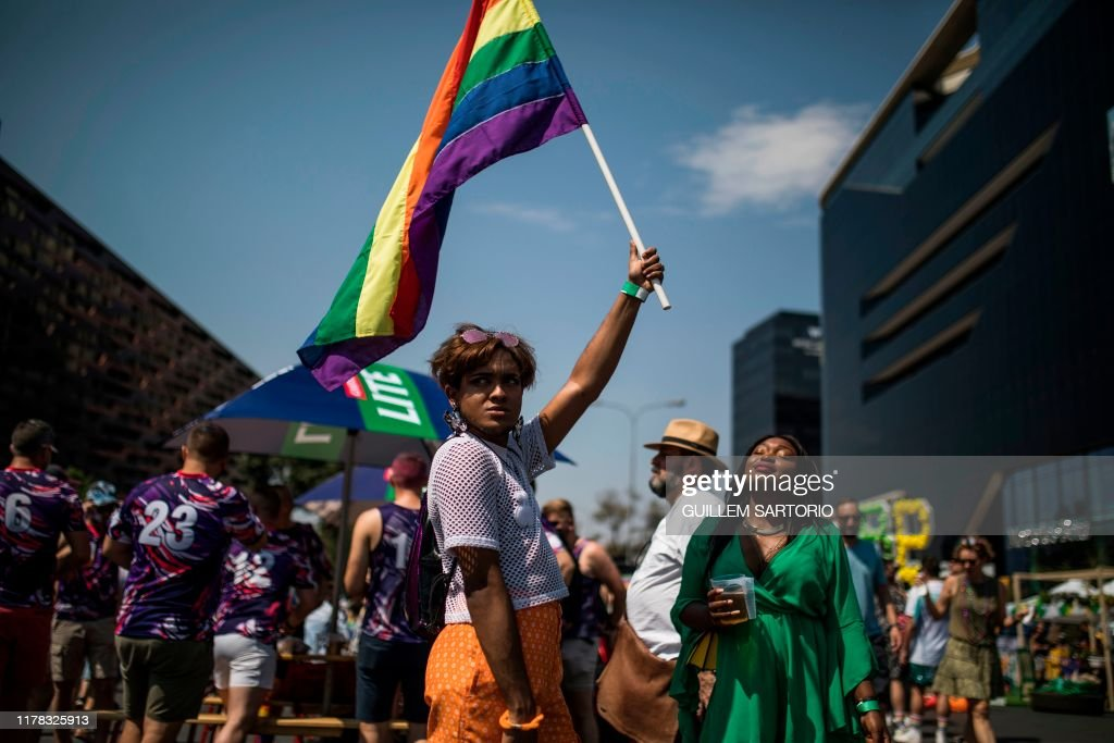 TOPSHOT-SAFRICA-GAY-PRIDE-PARADE : News Photo