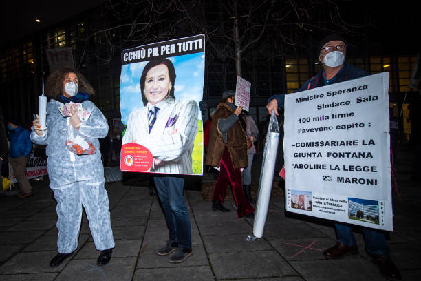 "ITA: ""Liberiamo La Lombardia"" (Free Lombardia) Protest Against The Regional Governor"