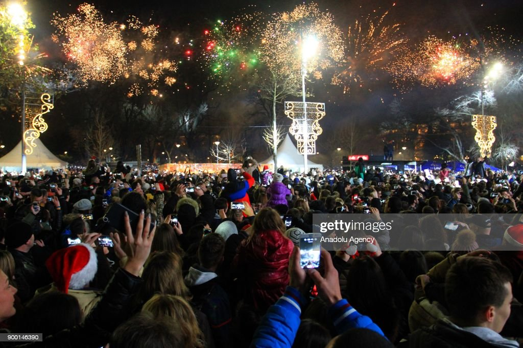 New year celebrations in Serbia : News Photo