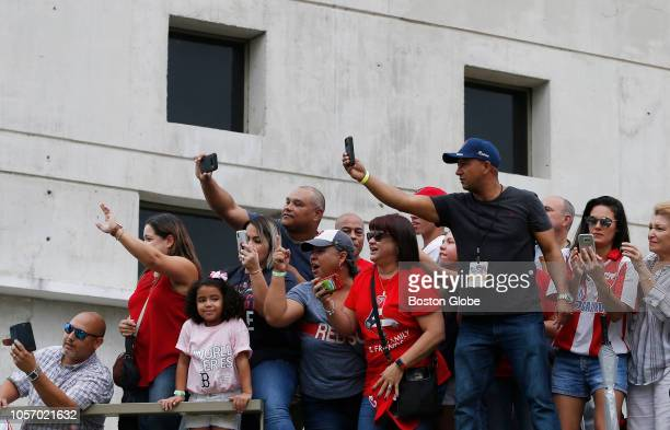 People take photos as Red Sox manager Alex Cora returns to his hometown with the World Series trophy Red Sox manager Alex Cora and some players took...