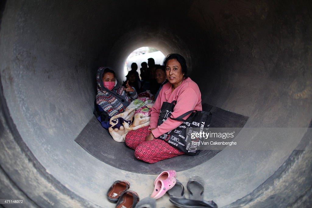 Kathmandu Struck By Powerful Earthquake : News Photo