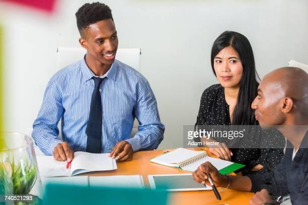 People talking in business meeting