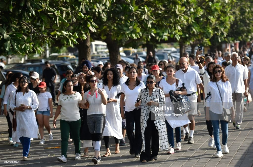 People Participate In Peaceful Walk Against The Rape Incidents