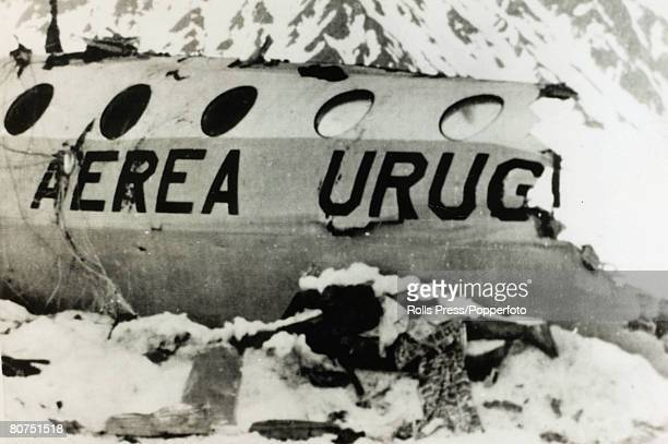 People Transport Aviation Disasters pic December 1972 A dead body from the Andes Flight Disaster lies near the wreckage On 13th October 1972 a...