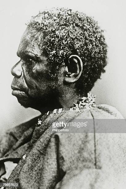 circa 1870's An Aborigine the last Tasmanian AboriginalTrucanimi 73 years old died in 1876