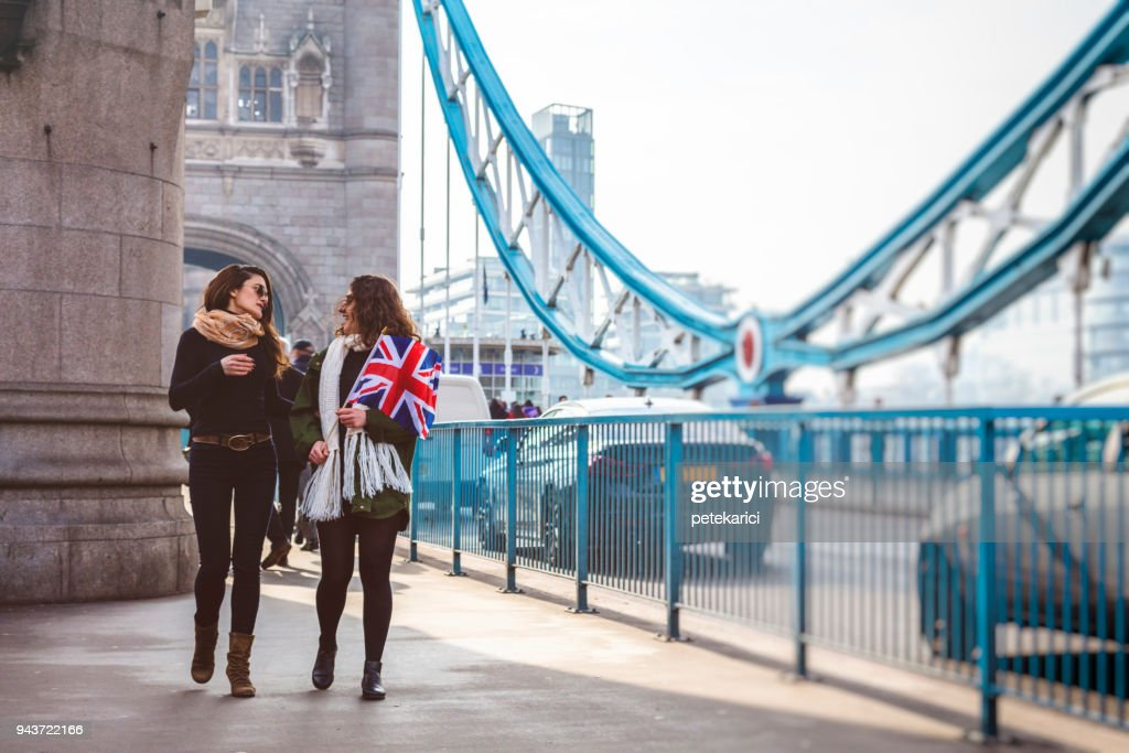 People traveling in London : Stock Photo