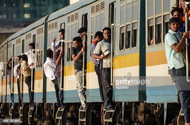 People Traveling on a train in Sri Lanka