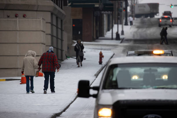 USA: Winter Storm Uri Brings Ice And Snow Across Widespread Parts Of The Nation