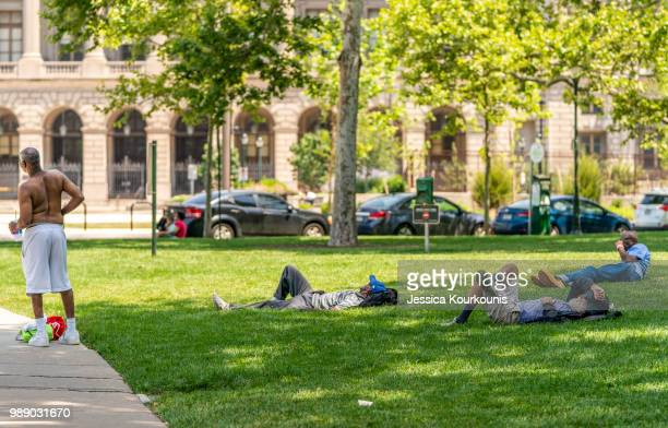 People try to stay cool in sweltering heat on July 1 2018 in Philadelphia Pennsylvania An excessive heat warning has been issued in Philadelphia and...