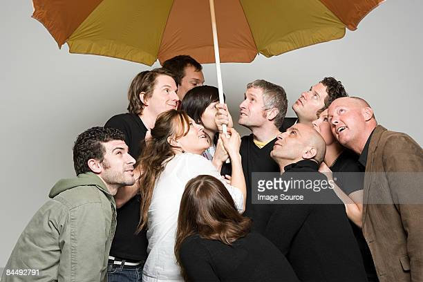 People under umbrella