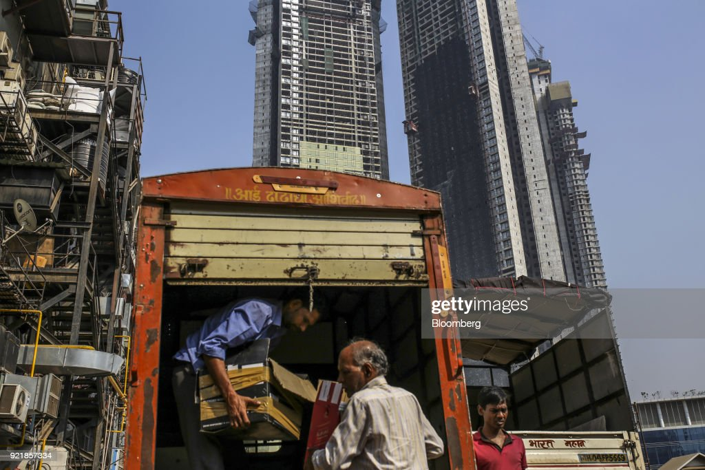 Ongoing Construction at Trump Towers Mumbai as Donald Trump Jr. Visits India : News Photo